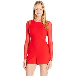 BCBGeneration Sexy Red Romper size 6